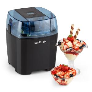 Klarstein Creamberry Ice Cream Maker Bottle cooler Frozen Yogurt 1.5L preto